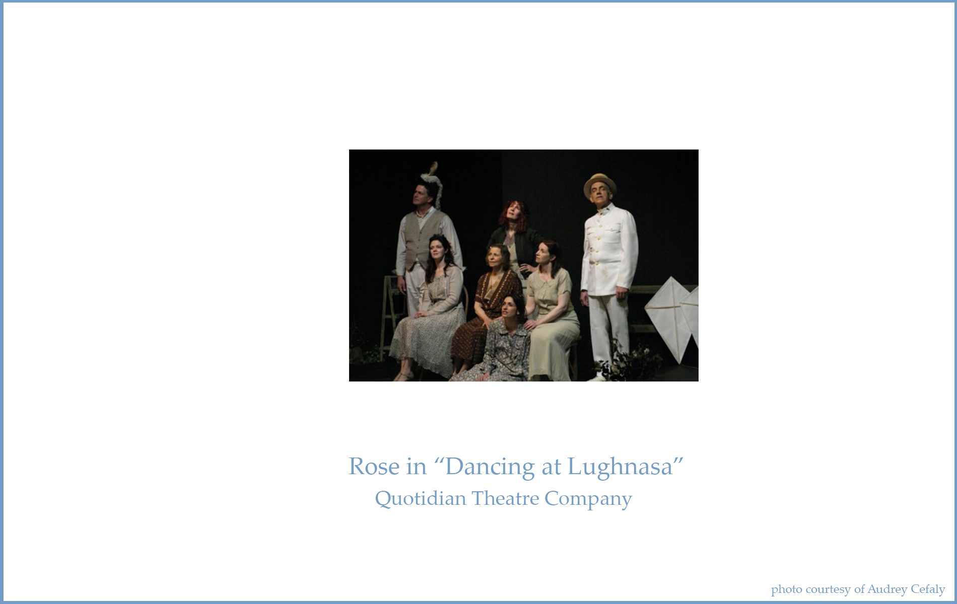 rose dancing at lughnasa essay Free essay: dancing at lughnasa the dancing scene in 'dancing at lughnasa' is important as it allows the reader to learn more about the individual characters.